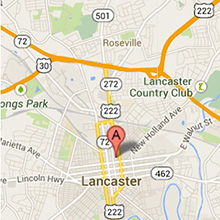 Lancaster Location of Kluxen Newcomer Dreisbach Attorneys At Law